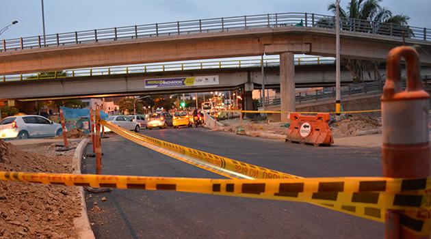 En esta zona se están realizando los trabajos de integración del Metroplús con la estación Industriales del Metro de Medellín.
