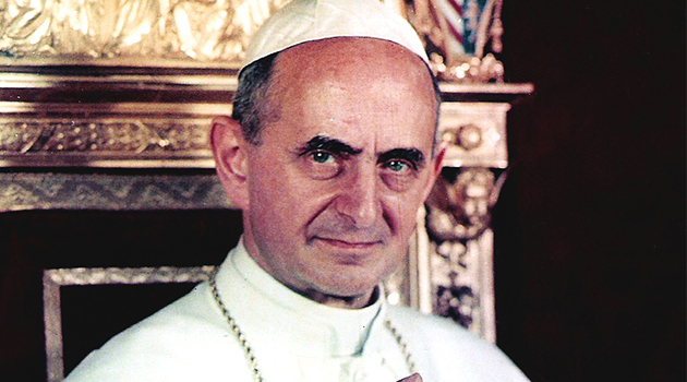 El Papa Pablo VI  fue la máxima autoridad de la Iglesia Católica entre 1897-1978.