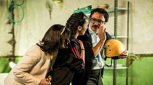 Escena de la obra: Ositos De Goma del grupo teatro R-101 de Bogotá. Foto: Cortesía