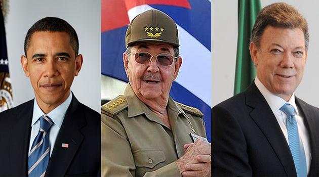 Santos,-Obama-y-Castro