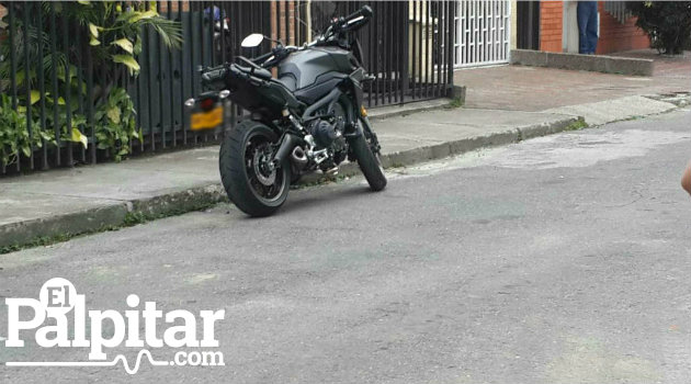 Foto: El Palpitar. Esta sería la moto implicada en el intento de hurto.