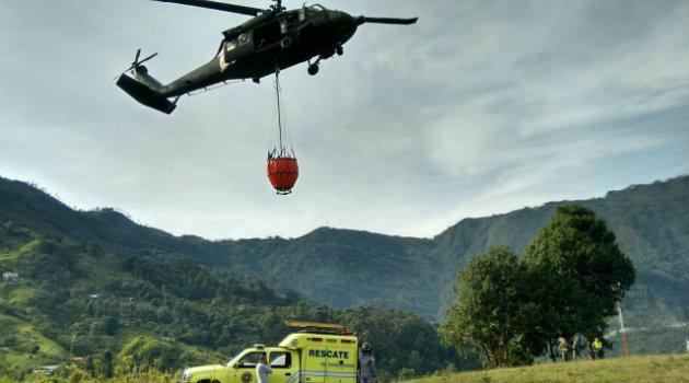 helicoptero incendio