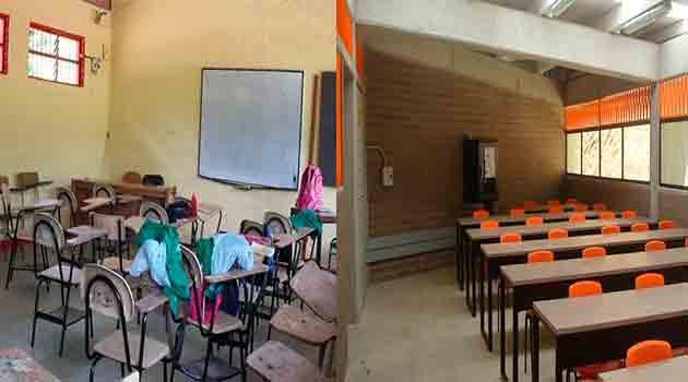 antes-despues-aulas-colegio Hernando-Posada