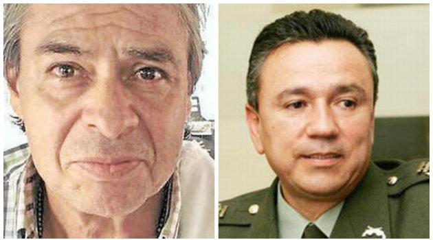 Izq. coronel en retiro, Jorge Eliécer Plazas Acevedo. Der.  coronel en retiro, Mauricio Santoyo. Foto: CORTESÍA