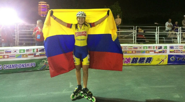 Karen Bermúdez, ganadora del oro en los 20 mil metros. Foto: CORTESÍA