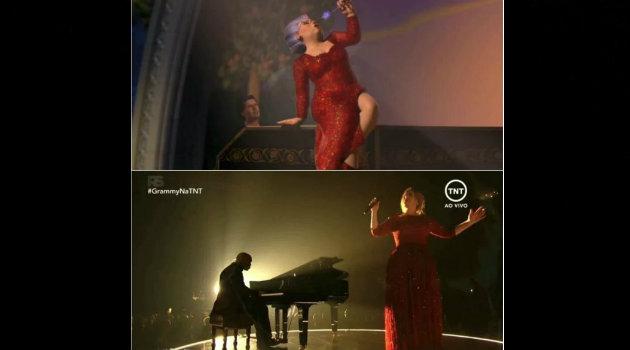 La presentación de Adele fue compara con una escena de la película Shreck.