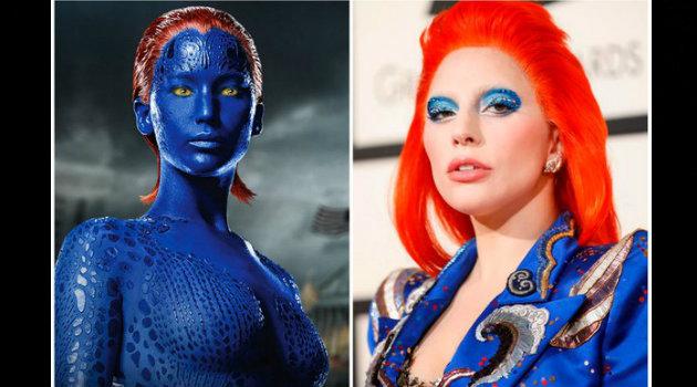 Lady Gaga fue comparada con un personaje de X Men.