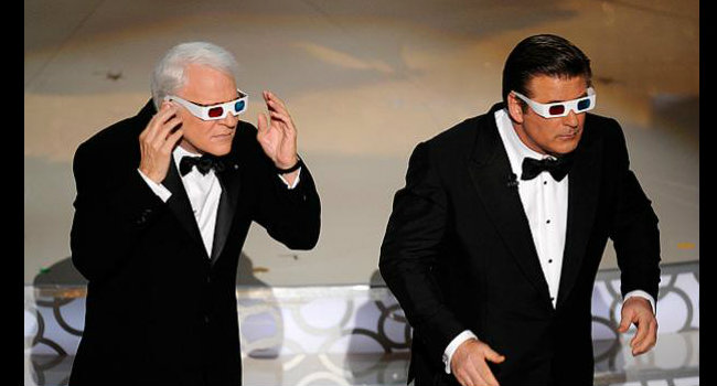 Steve Martin y Alec Baldwin en la ceremonia del 2010. FOTO: CORTESÍA.