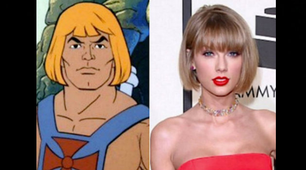 Taylor Swift comparada con He Man.