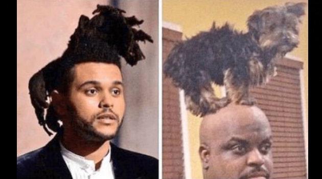 El peinado de The Weeknd hizo que los espectadores desplegaran su creatividad en divertidos memes.