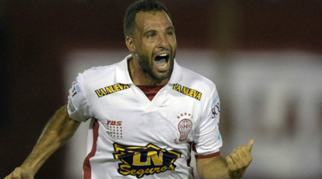 Mariano González, anotador del gol de Huracán ante Caracas. Foto: CORTESÍA