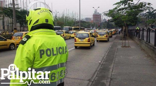 Taxis_Uber_Protestas_Medellín3