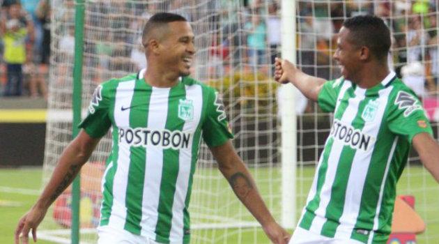 Macnelly Torres, al minuto 6, marcó el empate para Nacional en el juego. Foto: CORTESÍA