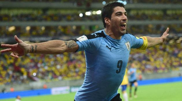 """El """"Pistolero"""" regresó con la Celeste y dejó su sello de gol ante Brasil. Foto: CORTESÍA"""