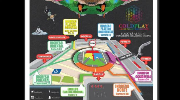 Mapa-Coldplay