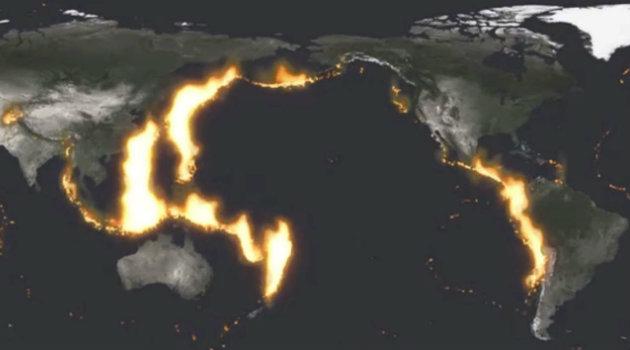 El Cinturón de Fuego se caracteriza por una gran cantidad de actividad volcánica. Foto: CORTESÍA