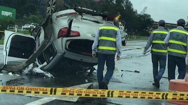 Imagen del accidente que se presentó en la tarde del pasado domingo. Foto: Cortesía