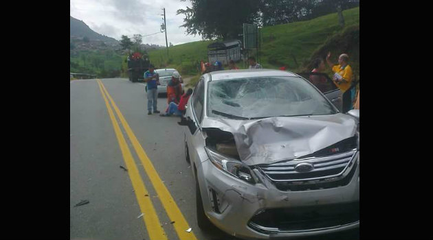 Segundo accidente en Yarumal. Foto:CORTESÍA