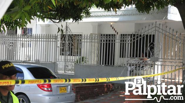 En este lugar fue asesinado el Director Norte de Medicina Legal. Foto: CORTESÍA Hans Vásquez