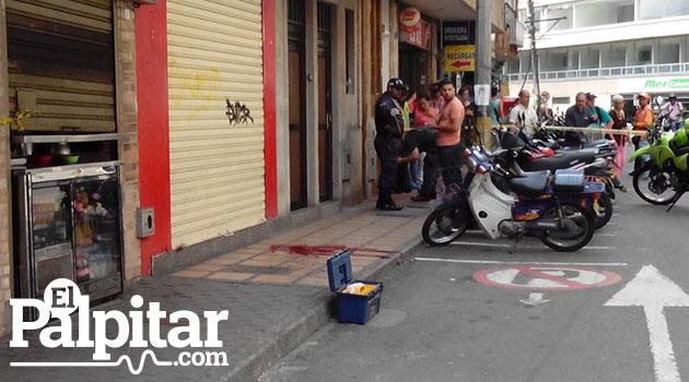 Lugar donde fue asesinado el hombre Foto: ELPALPITAR