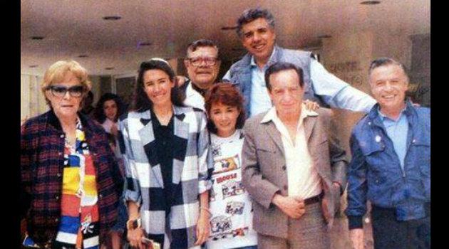 Elenco del Chavo del 8 en los años 80. Foto: Cortesía.