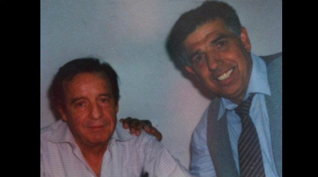 Rubén Aguirre junto a Chespirito. Foto: Cortesía.
