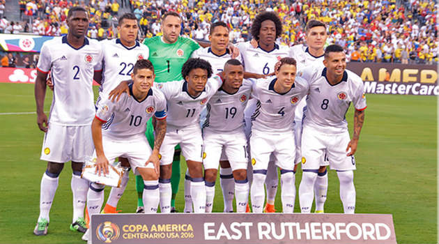 Colombie tendría un equipo similar al que empató con Perú en los cuartos de final. Foto: CORTESÍA