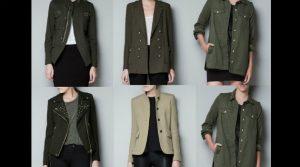 Las chaquetas militares que son tendencia actualmente tienen influencia de las prendas de la época de Independencia. Foto: CORTESÍA.