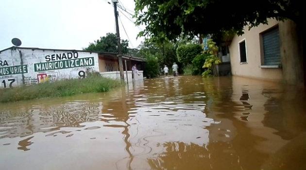 El municipio de Caucasia ha sufrido inundaciones por lluvias. Foto: CORTESÍA.