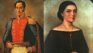 Simón Bolívar y Manuela Sáenz. Foto: CORTESÍA.