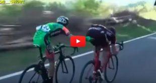 Viral: ¿Que le está haciendo este ciclista a su competidor?