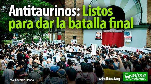 Colombia Sin Toreo, una coalición nacional creada para luchar por el fin de las corridas de toros.