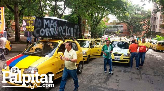 Marcha1_Taxistas_Medellín_El_Palpitar