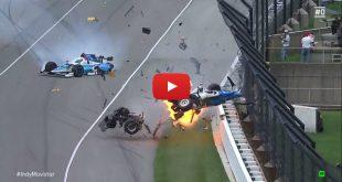 Video: Piloto salió ileso en increíble accidente durante las 500 millas de Indianápolis
