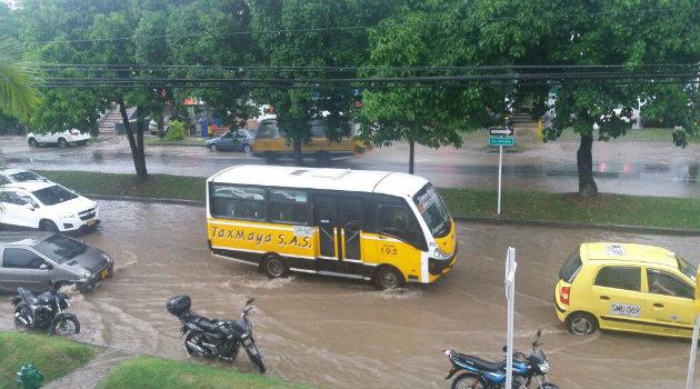 Así se registró la inundación en Nutibara. Foto: CORTESÍA.