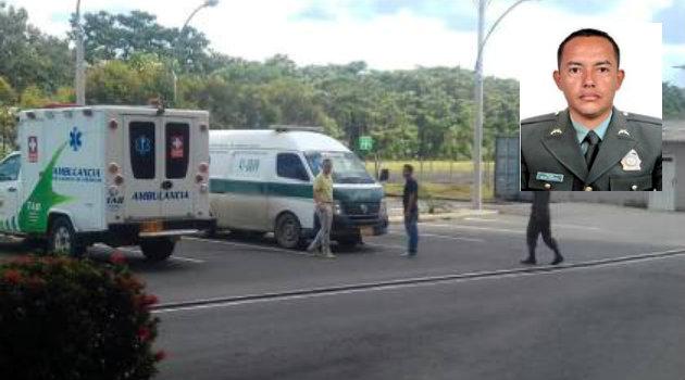 El uniformado falleció en un centro asistencial. Foto: CORTESÍA.