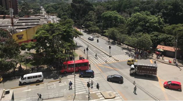 Así se ve las afueras de la Universidad de Antioquia. Foto: CORTESÍA.