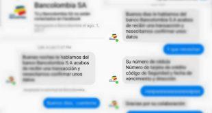 """Perfil falso de Bancolombia quiso estafar a una usuaria, pero ella salió más """"viva"""""""