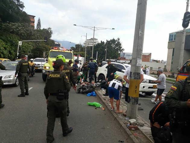 Fleteros atropellados en Medellín