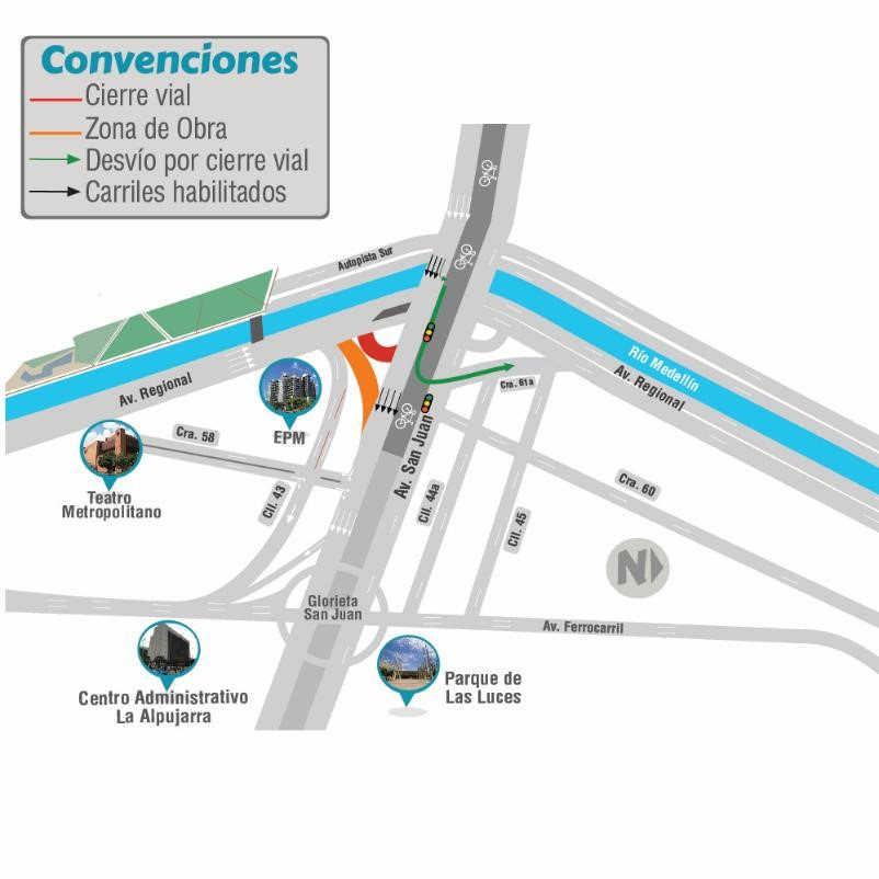 Cambios viales en la calle San Juan
