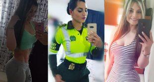 La patrullera de la Policía que se roba las miradas por su figura