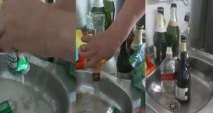 """Se hizo viral por botar litros de licor en el lavaplatos, explicando que beber es """"pecado"""""""