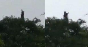 Qué susto: Se vuelve viral el video de una misteriosa mujer lanzando gritos de terror