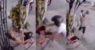 Con gallardía, abuelita se viralizó por defenderse a golpes de un ladrón